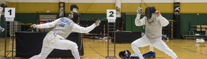photo of students fencing