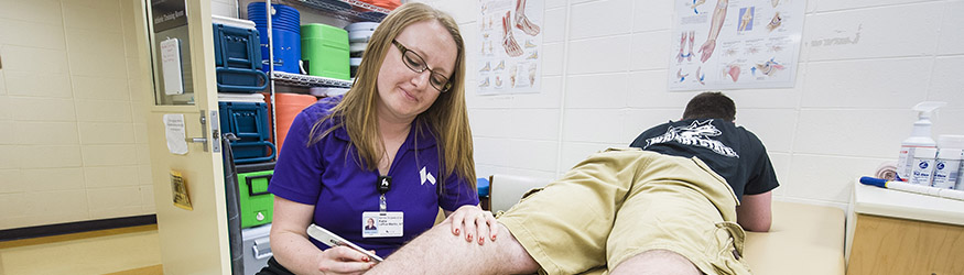 photo of a student and patient