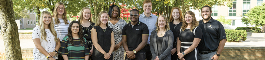 image of the Dean's student advisory board standing together