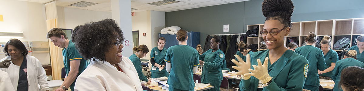 photo of students in a nursing class